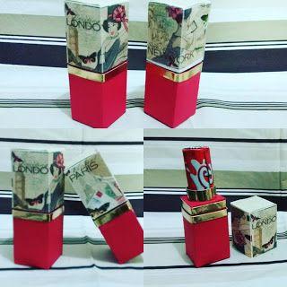 Criar Artes e Embalagens: Caixa Porta Batom