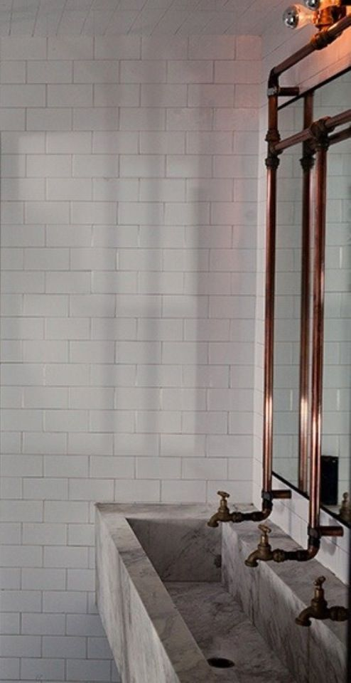 Bathroom Sink And Taps With Exposed Pipes Bathroom Diy