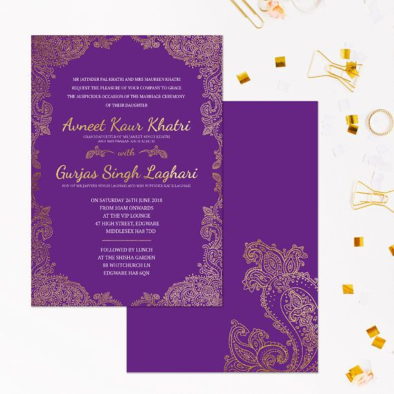 The 25 best Indian wedding invitation cards ideas – Indian Wedding Invitation Card