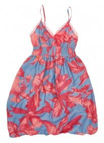 Floral Strappy Dress Purple
