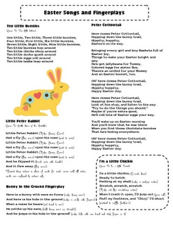 Easter Songs and Fingerplays