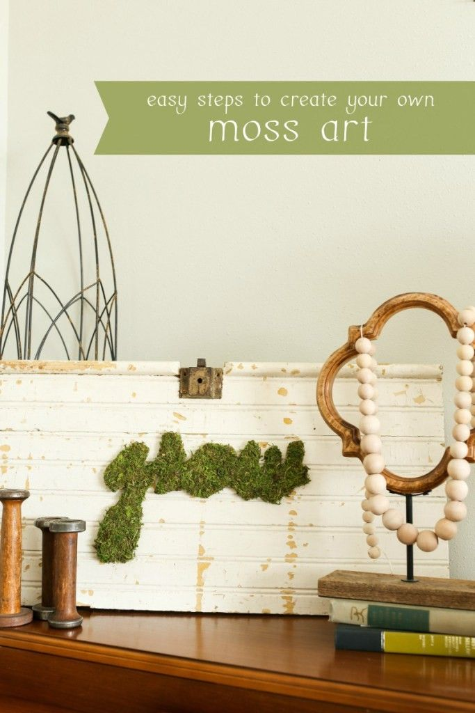 DIY Moss Art from The Dempster Logbook! Found on Create and Crave #25