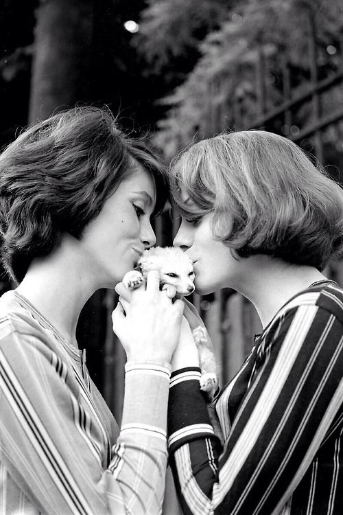 Sisters Catherine Deneuve and Francoise Dorleac
