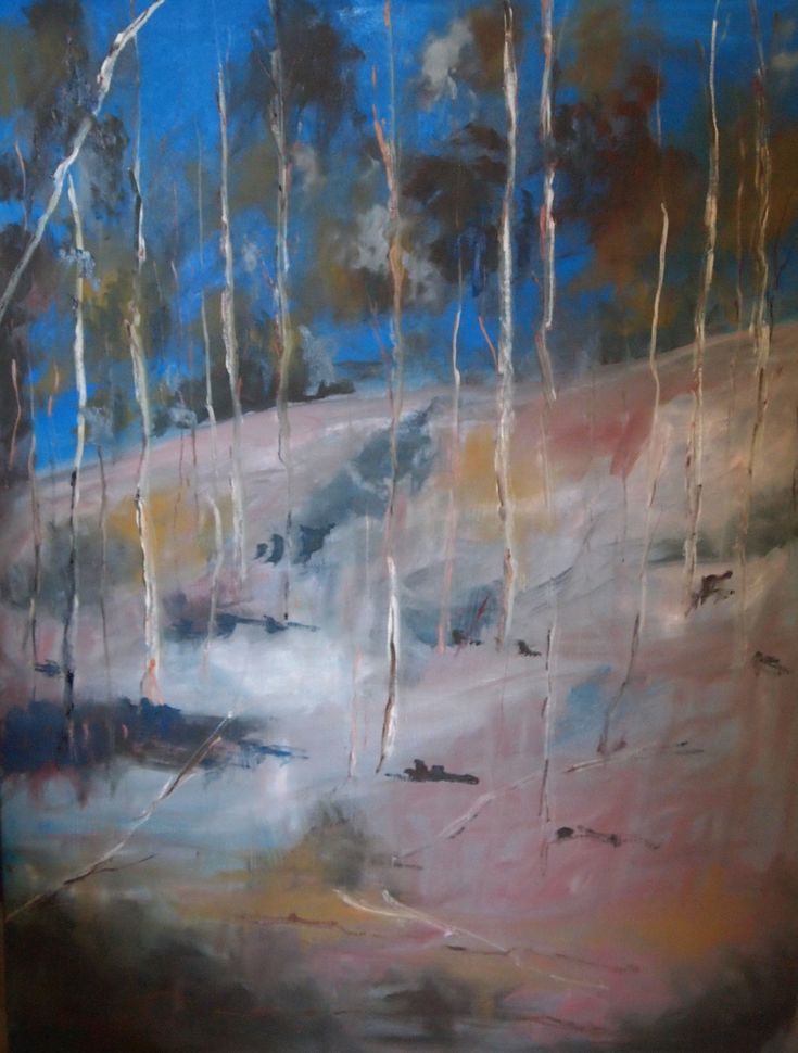 """""""A beautiful day in summer at Sutton Grange VIC """" by Margaret Morgan (Watkins). Paintings for Sale. Bluethumb - Online Art Gallery"""