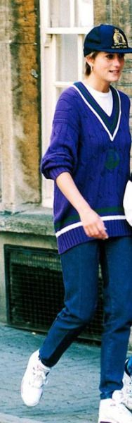 RushWorld celebrates sweater day remembering Princess Diana. Royal violet and the hat to match.