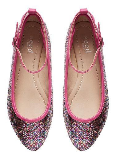 Glitter Point Ballet Flat - Seed