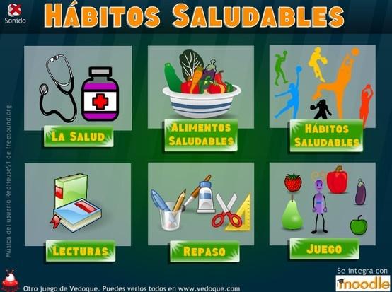 Tema interactivo de Conocimiento del medio de 2º de Primaria. Estudiamos los hábitos saludables repartidos en las siguientes secciones: La salud. Alimentos saludables. Hábitos saludables.