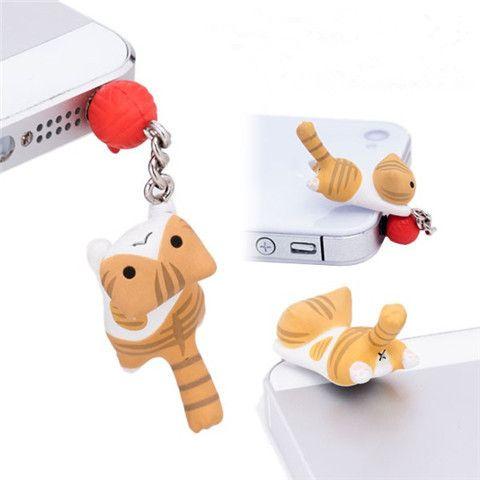 Peaches the Cat Phone Plugy