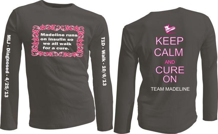 Custom team t shirts for local jdrf walk team custom t for Custom team t shirts