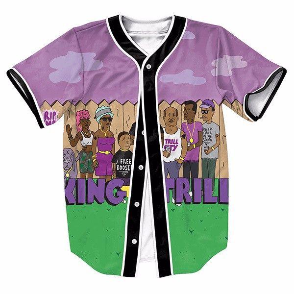 Funny Design Family Print Mens Buttons Homme Baseball Jersey 3D Shirt Streetwear Tees Shirts Hip Hop Brand Clothing