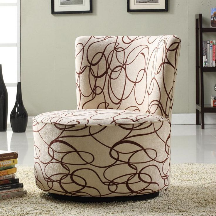Jayden Round Fabric Swivel Chair - Brown Scroll - $211.99 @ - 36 Best Images About Bedroom Chair On Pinterest Great Deals