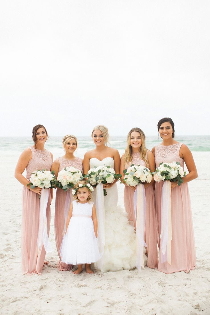 533 best bridesmaid dresses images on pinterest band blush elegant blush white beach wedding ombrellifo Image collections