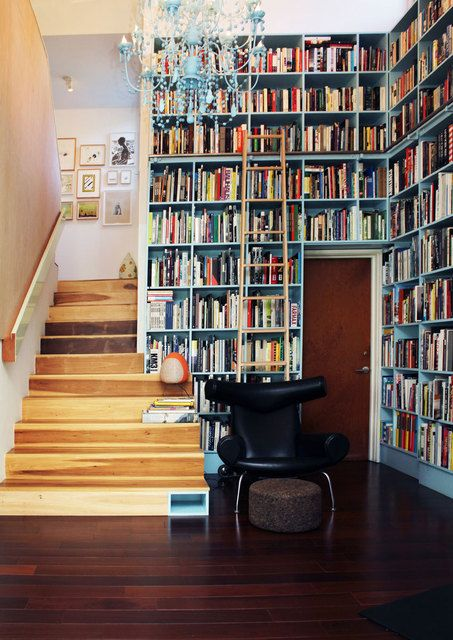 integrated shelves and stairs