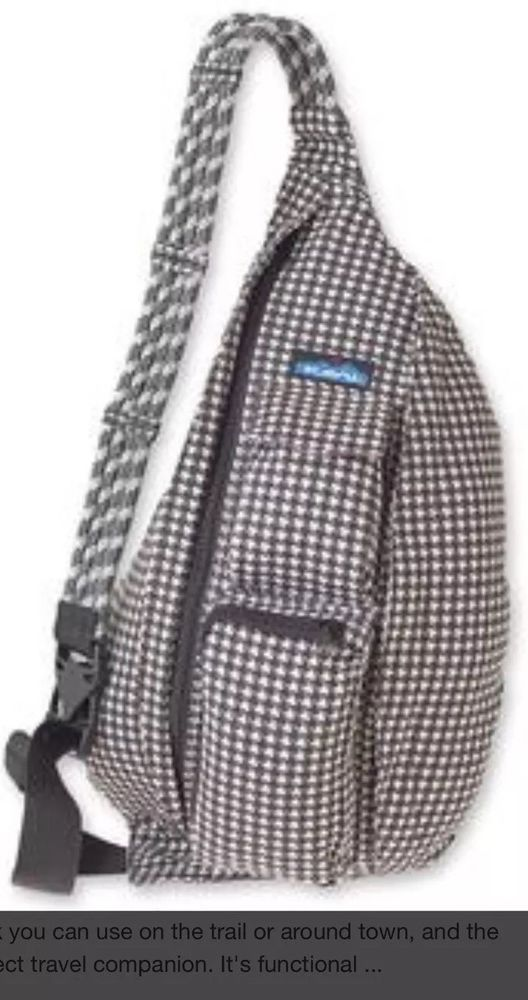 82f7c4fc8b98 Kavu Rope Bag Houndstooth Pattern Backpack Sling Bag New With Tags  KAVU   Backpack