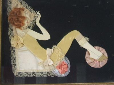 Vintage Art Deco Ribbon Art Paper Doll Red Head Flapper Girl Smoking Cigarette | eBay