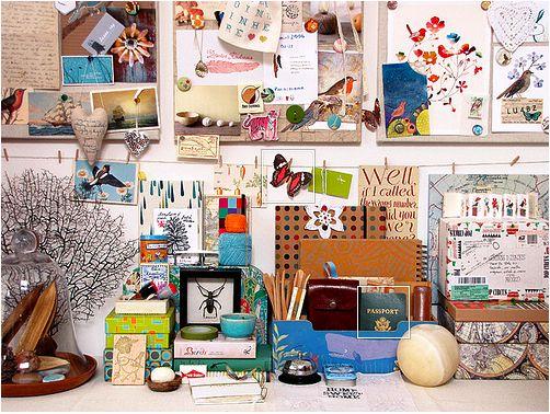 Geninne Zlatkis' creative space via My Mammas Table