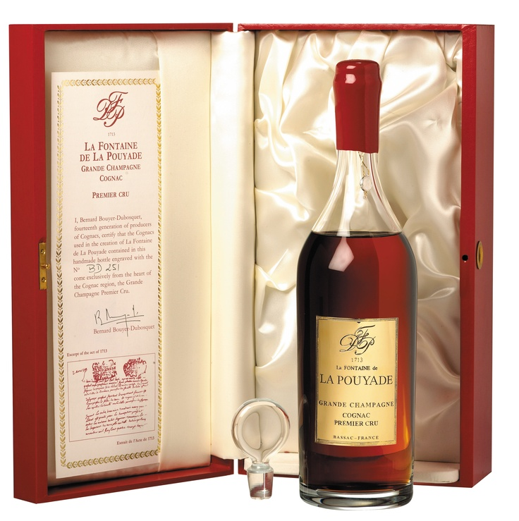 Domaine La Fontaine de La Pouyade Grande Champagne Cognac Premier Cru, Only one quality: the best at the top of the niche of the great cognacs.  Baccarat Decanter  http://www.lafontainedelapouyade.com