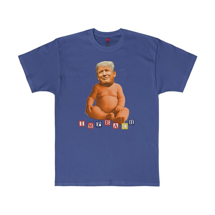 Impeach Donald Trump Baby Blocks Tagless T-Shirt