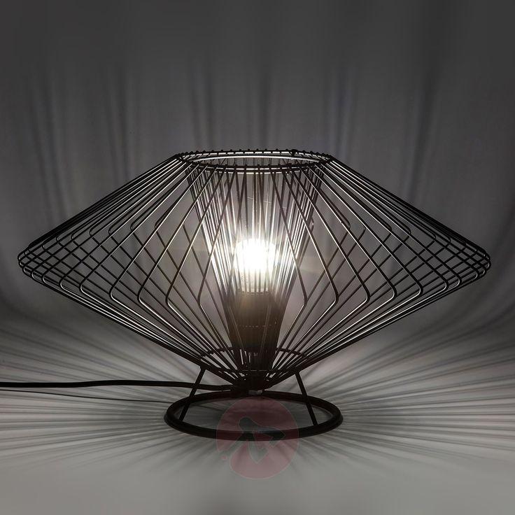 Modo Wire Tischlampe aus schwarzem Metall - traumhaftes Design für den minimalistischen Einrichtungsstil.