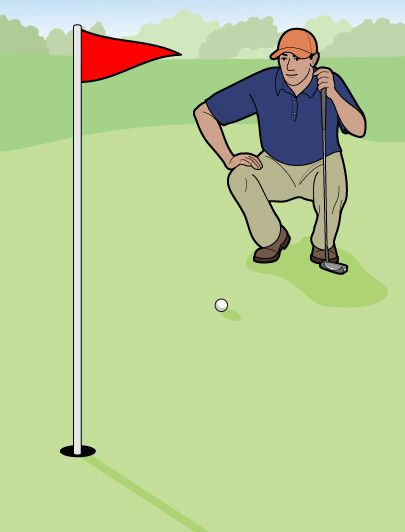 Golf Digest...How to read the green.