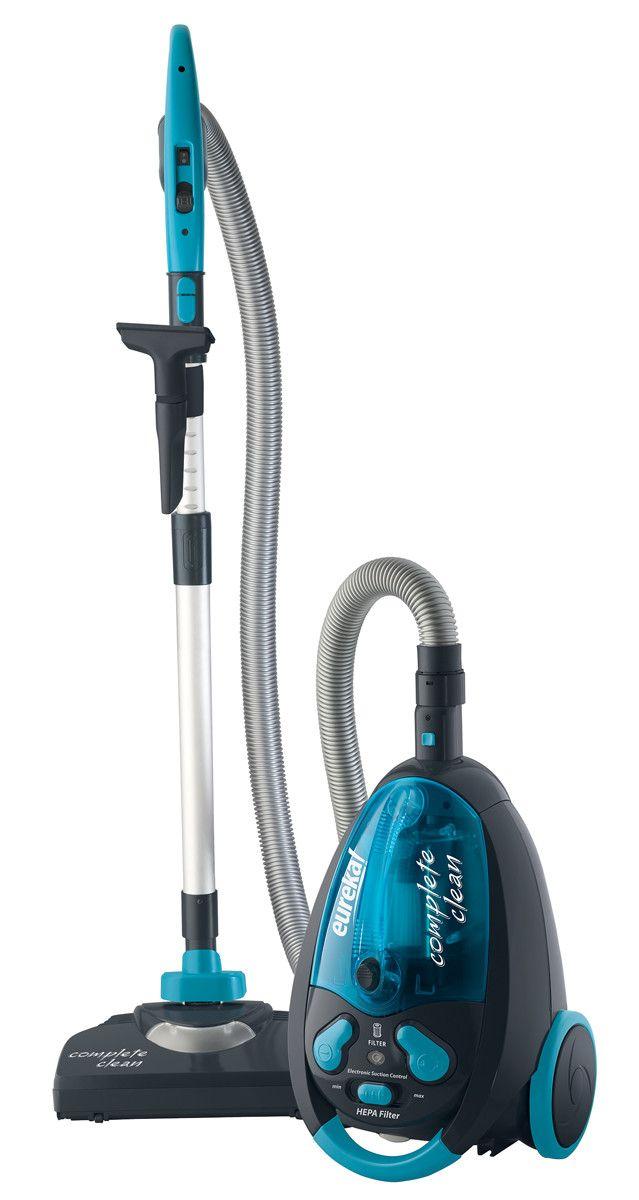 Complete Clean Bagless Canister Vacuum In Aqua