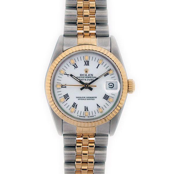 Pre-owned Rolex Women's Midsize Two-tone Gold Watch $4,211.99 http://wkup.co/cash_back/MzgxMDIxMTE1/MTA1MDQ3Mg==
