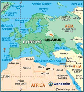 Localizador Mapa de Bielorrusia