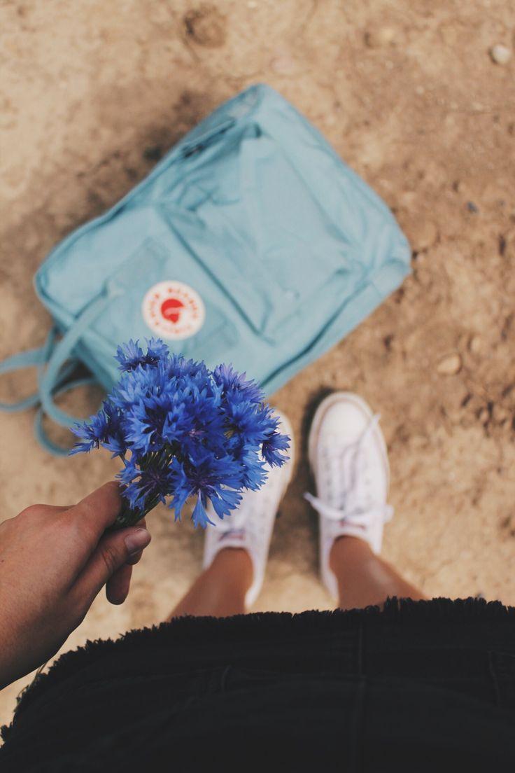 @frauke_hagen #UOaroundYou | Fjallraven Kanken Classic Sky Blue Backpack