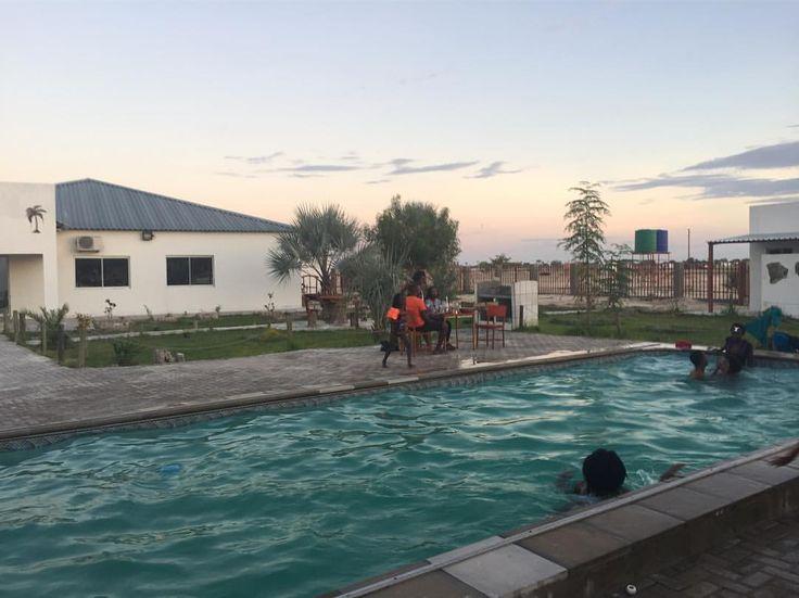 """""""Mandatory cool off in the Namibian heat 💦 #summer #sharemynamibia #ovamboland #lifestyleblog"""""""