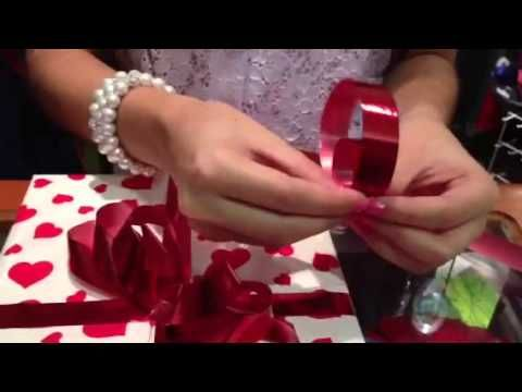 Como hacer lazos para regalo - YouTube                                                                                                                                                                                 Más