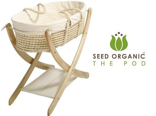 NEW! Seed Organic POD: Eco-Friendly Moses Basket and Cradle