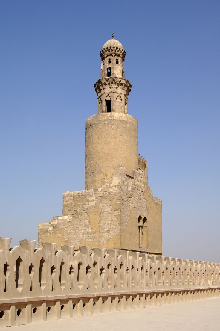 MINARET of Egypt, Cairo, ninth century mosque of Ahmad Ibn Tulun, Abbasid governor of Egypt, 868-84
