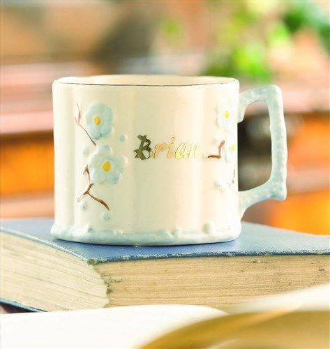 21 best baby gifts images on pinterest baby presents baby belleek china thorn personalised baby cup hand crafted in belleek pottery choose name and dob negle Choice Image
