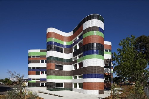 Fitzroy High School expansion in Melbourne, Australia;  designed by McBride Charles Ryan;  photo by John Gollings