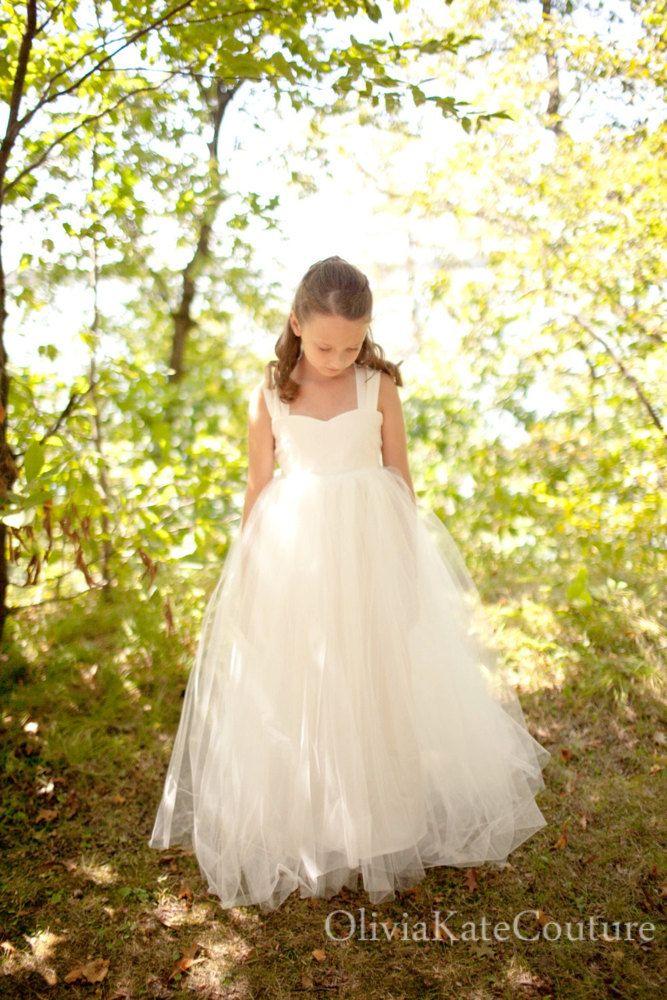 @Nina Scavo Flower Girl Dress Floor Length.via Etsy. For the three older flower  girls.