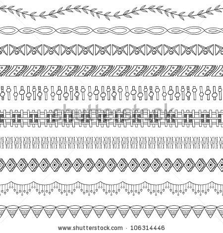 Seamless Doodle Border and Frame Elements two by kleyman, via Shutterstock