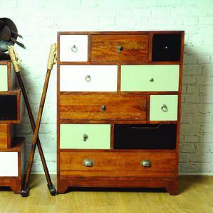 Tall Mismatched Vintage Set Of Drawers - furniture