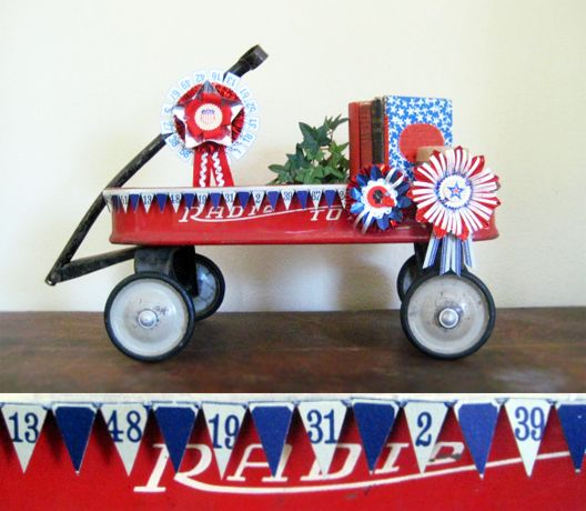 4th of july wagon decorations