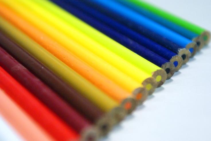 Lápis de cores do almoço