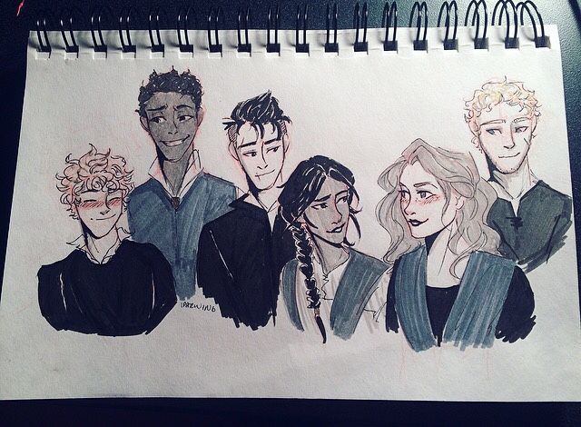 """itsiparwing: """"When you've missed 6 days of inktober so you try to make up for it by sketching 6 crow kids """" Crow kids ❤️❤️❤️❤️❤️❤️"""