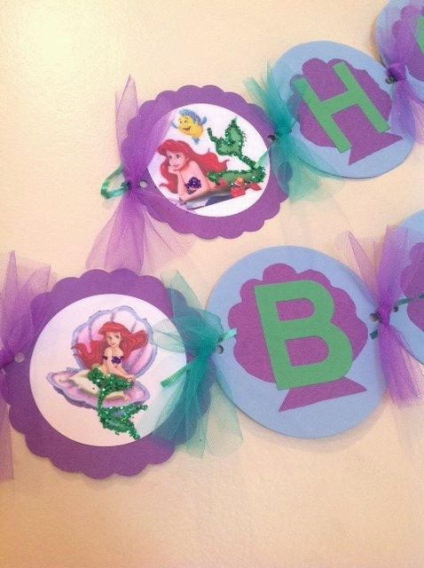 Under the Sea Mermaid Inspired Birthday Banner by Forgetmenotparty