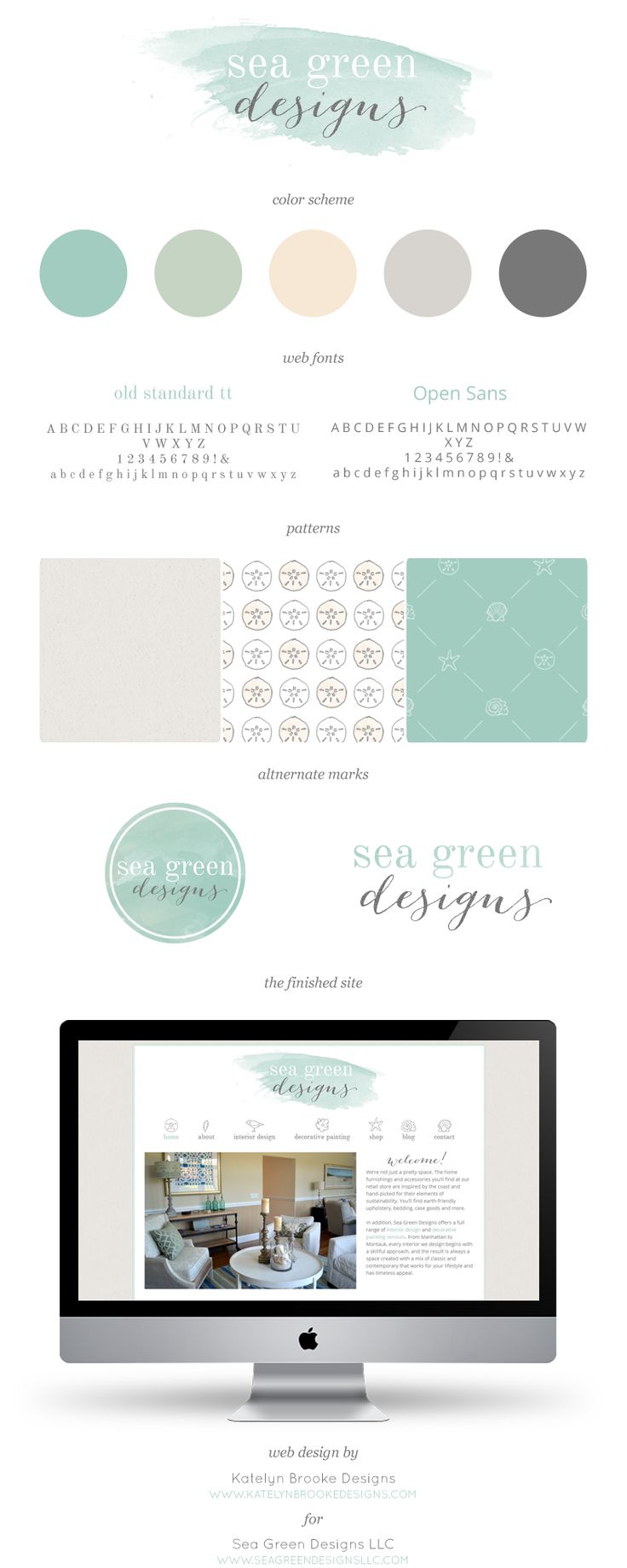 Paint colors website - Sea Green Designs