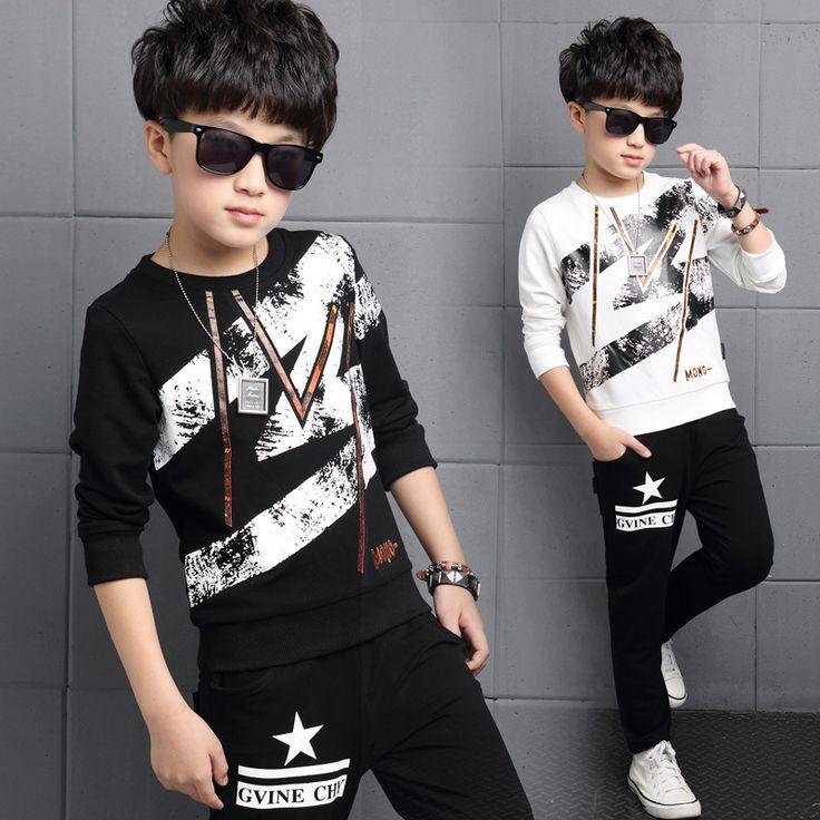 $27.99 (Buy here: https://alitems.com/g/1e8d114494ebda23ff8b16525dc3e8/?i=5&ulp=https%3A%2F%2Fwww.aliexpress.com%2Fitem%2FChildren-Clothing-Sets-For-Boys-Sports-Suits-Cotton-Letter-Boys-Tracksuits-2016-Autumn-Kids-Outfits-Spring%2F32720410395.html ) Children Clothing Sets For Boys Sports Suits Cotton Letter Boys Tracksuits 2016 Autumn Kids Outfits Spring Boys Sportswear 4-14Y for just $27.99