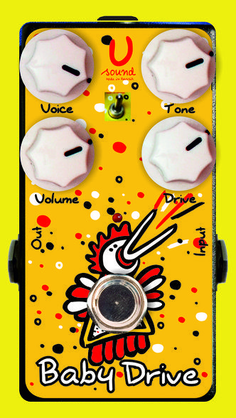 """""""Baby Drive""""Modern Overdrive""""Baby Drive"""", is a modified version the pedal """"Doodl-Doo"""".It has the same function, but there is no switch to """"FAT"""".Simply put - """"Doodl-Doo"""" some functionality, but """"Baby Drive"""" smaller in size and weight.However, this baby will not yield to the pressure of the cantabile and his older brother. Otherwise, you can trust on the description of the overdrive """"Doodl - Doo"""".Sweep the """"TONE"""" and """"DRIVE"""" knobs to shape your sound, then use the """"VOICE"""" function as a band…"""