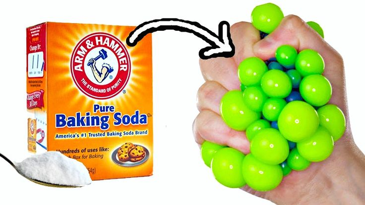 Baking soda and conditioner for a stress ball, and potato netting for the weird kind!