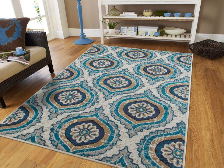 blue modern large area rugs 8x10 carpet rug 5x7 hallway runner 2x8 - Area Carpets