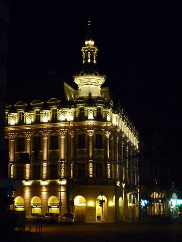 Central Bucharest at night