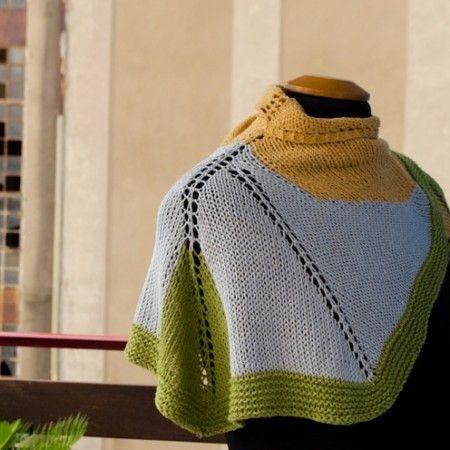 Kusafiri Shawlette - Knitting Pattern - by Asimina Saranti #udt