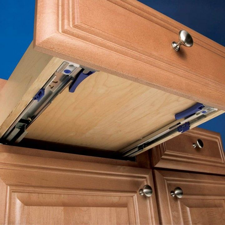 White Finish Drawers Slides Are Ideal For Kitchen Cabinet Applications.  Accuride® Eclipse 3132EC Undermount Slide