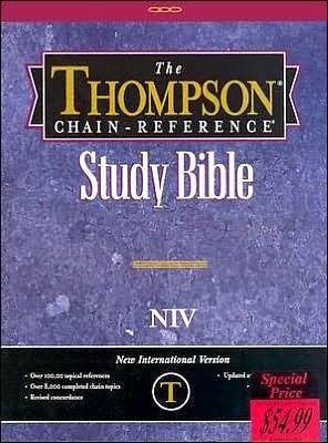NIV Thompson Chain Regular-Black Bond